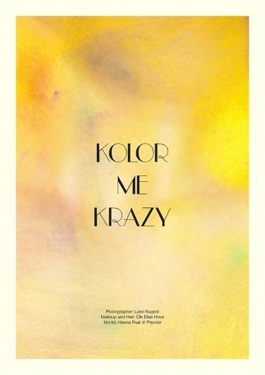 Kolor Me Krazy | Volt Café | by Volt Magazine #beauty #design #graphic #volt #photography #art #fashion #layout #magazine #typography