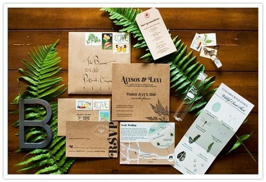 Real Wedding: Alyson + Levi « 100 Layer Cake #design #graphic #branding #typography