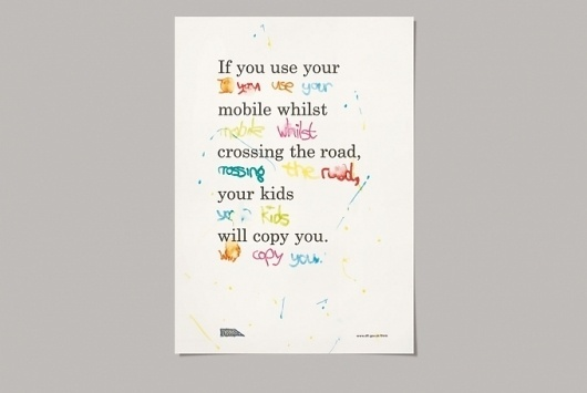 This is Real Art | Projects | Dept. for Transport | Road Safety #advertising #color #water #typography