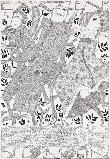 Laatzen Bilderbogen 1. Folge 5. Bogen 1967 Horst Janssen #janssen #poste #horst #illustration #poster