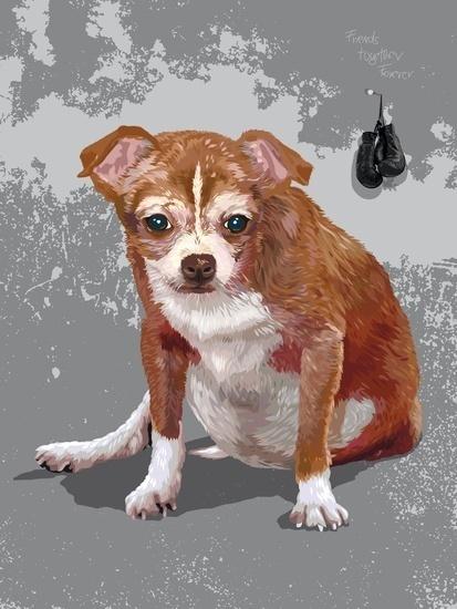 Loki #fellerer #together #illustration #forever #marge #pet #friends #dog