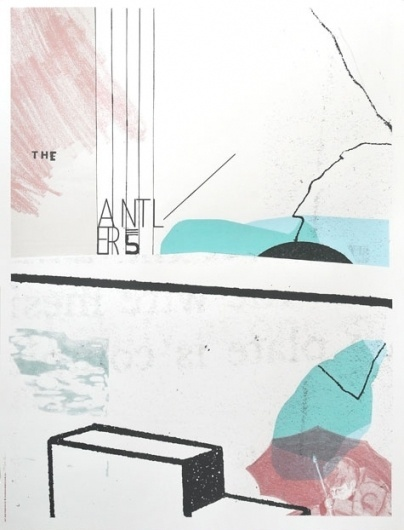 2011 — Sonnenzimmer #antlers #sonnenzimmer #print #color #the #screen #poster