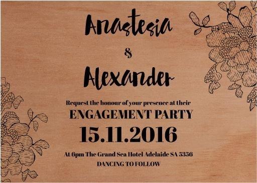 Flowers In The Wood - Engagement Invitations #paperlust #engagement #engagementinvitation #invitation #engagementcards #engagementinspirati