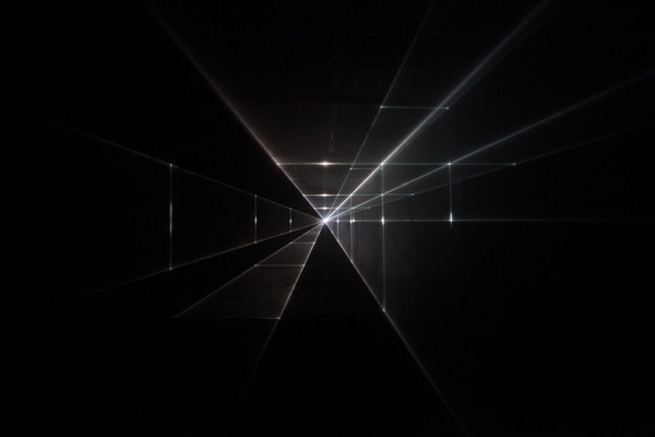 United Visual Artists — Vanishing Point #perspective #photography #light #blackwhite