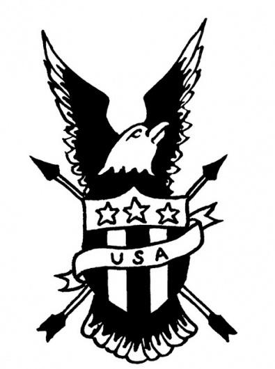 eastcoastbred.us #coast #bred #illustration #eagle #tattoo #usa #east