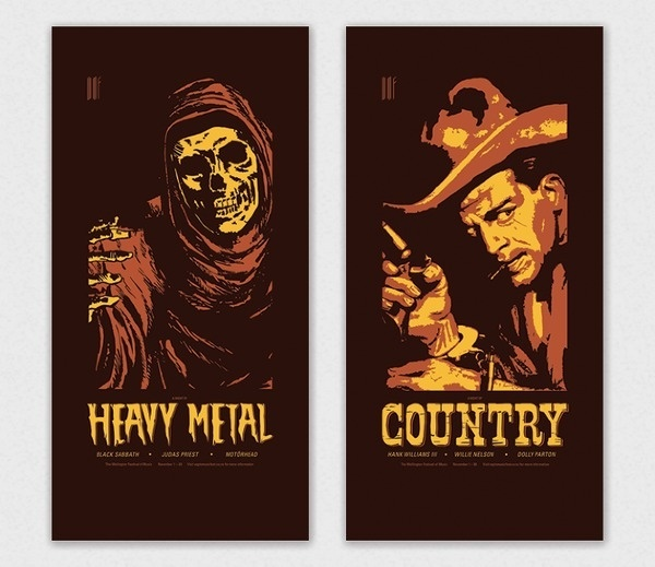 WMF Screenprints #design #graphic #screenprint #poster #countr #metal #heavy
