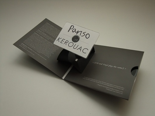 Pariso / Kerouac Split – 5inch vinyl / Pop up business card CD − ACDSleeve #cover #aaron #sleeve #dawkins