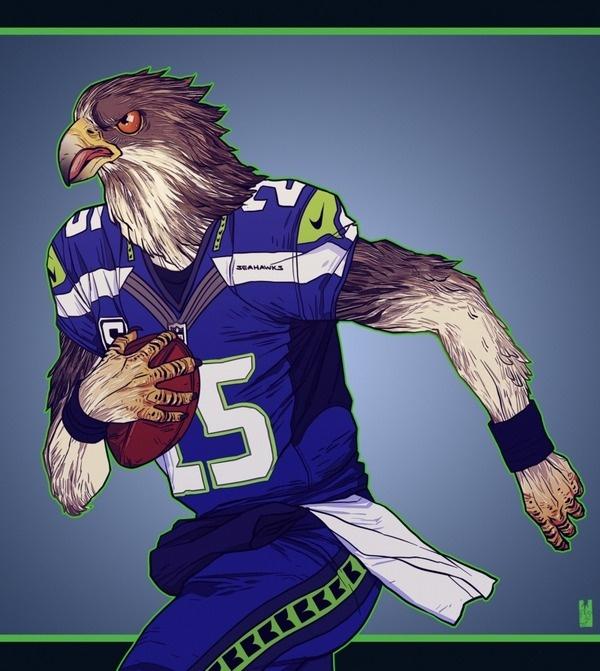 Seattle Seahawks NFL Super Bowl XLVIII by Zarnala on deviantART #seahawks #seattle