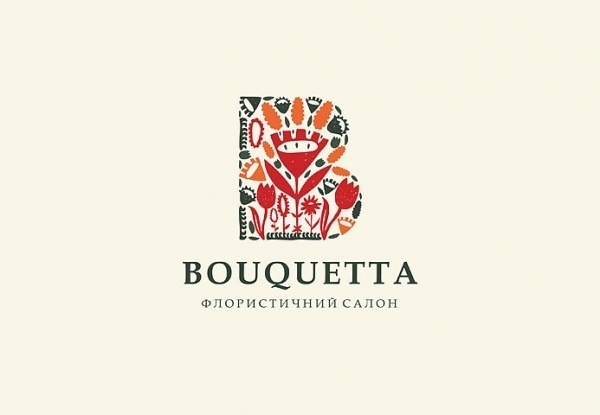 Graphinya #red #orange #floral #flower #logo