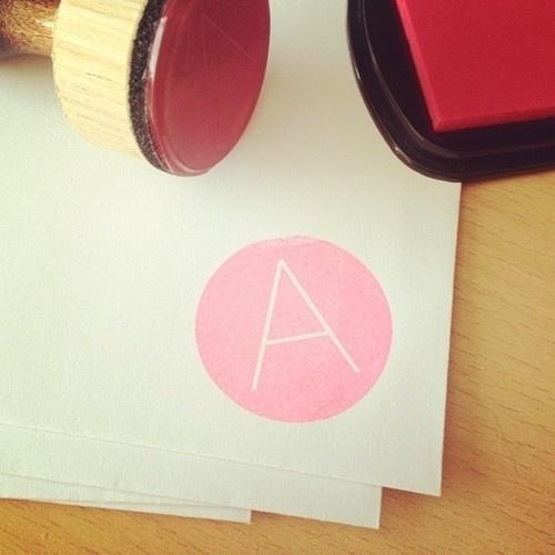 Tumblr #stamp #ink #pink #design #logo #neon