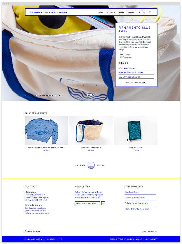 Firmamento Website at Wow-Web #wow-web #surf #shop #website #wedesign #web #online
