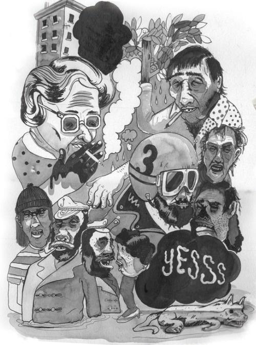 smoke em if ya got em #zine #girls #book #comic #illustration #tattoo #painting #monkeys #cartoon #watercolor #drawing #motorcycle #typography