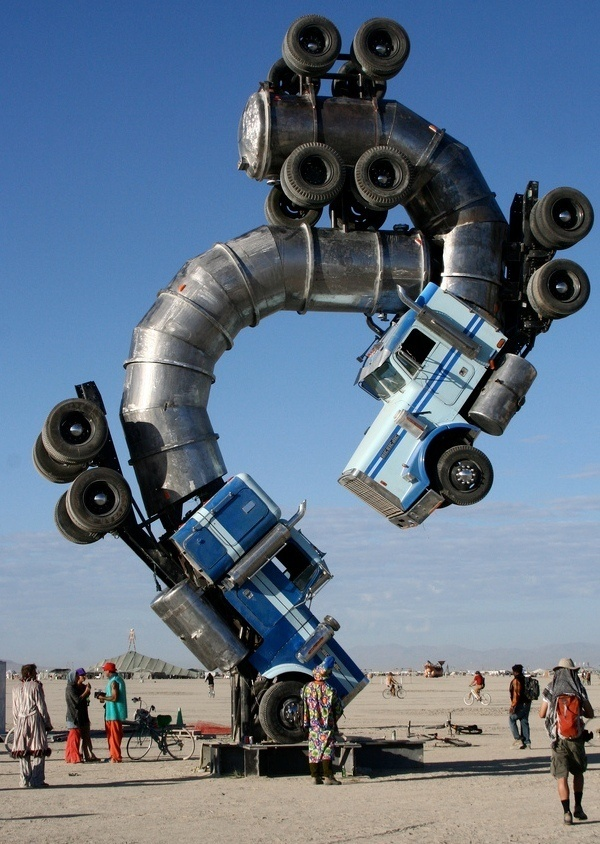 Awesome Art Installation at Burning Man #man #burning #art #installation