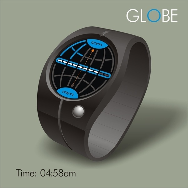 Globe Watch #tech #amazing #modern #innovation #design #futuristic #gadget #ideas #craft #illustration #industrial #concept #art #cool