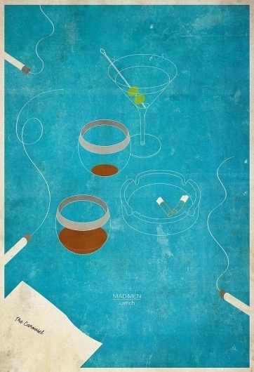 Mad Men Meals « These Old Colors #don #design #draper #men #art #whitesell #minimalist #mad #ben