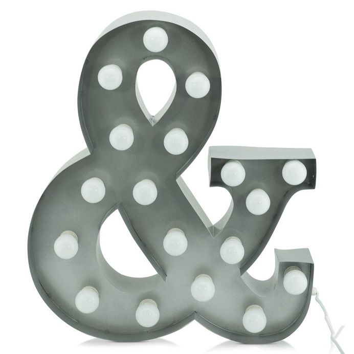 Marquee Light '&' Silver 60cm