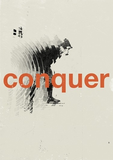 Conquer - Marius Roosendaal—MSCED '11 #conquer #poster #typography