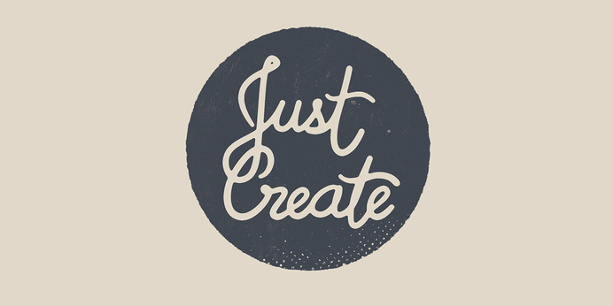 Just create #create #lettering #just #type #hand