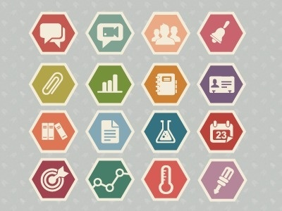 FFFFOUND!   Dribbble - Education icon set by Meghan Robichaud #logo #robichaud