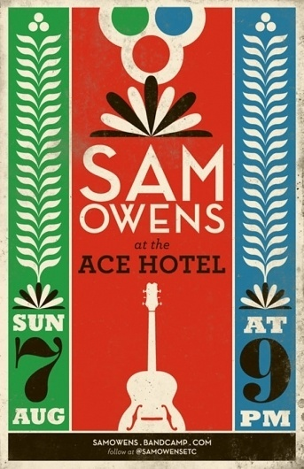 superfuture :: supernews :: archive :: new york: sam owens #music #event #poster