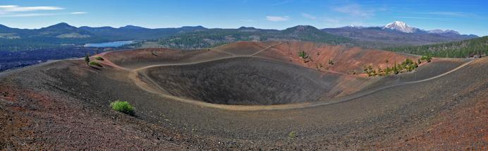 Cinder Cone Crater Panorama