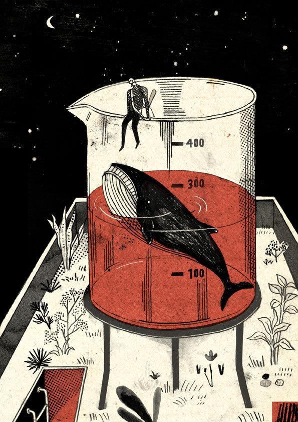 Knock the whale out/xe6x95xb2xe6x98x8fxe9xafxa8xe9xadx9a #illustration