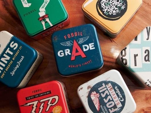 Riley Cran | Blog #packaging #design #fossil #vintage #logo #typography