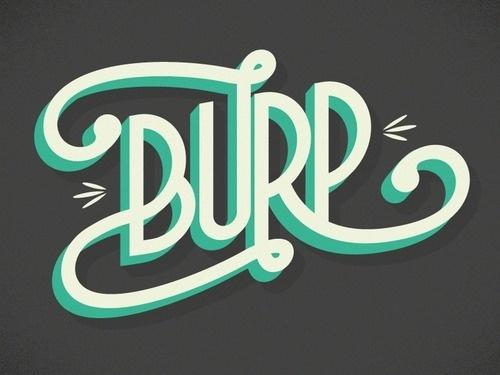 Burp #design #graphic #typography