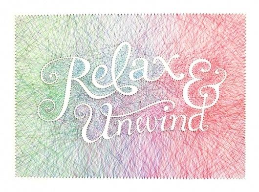 Relax & Unwind on the Behance Network #thread #typo #pins