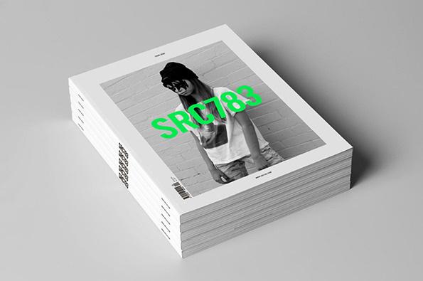 Magazine SRC783 #fluo #editorial #magazine #black&white