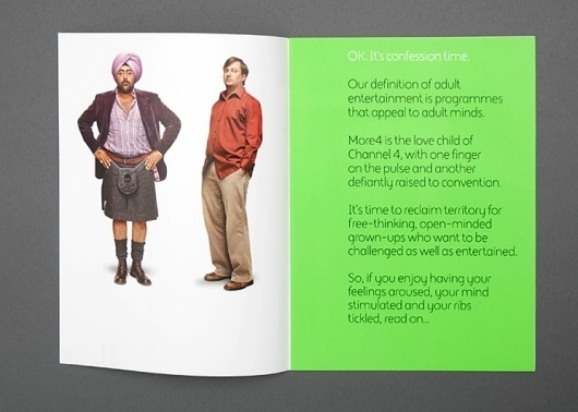 Spin — More4 #brochure #print #identity #branding