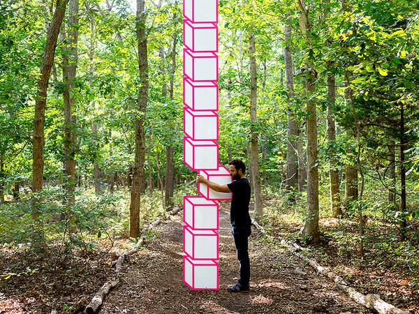 A Kinetic Sculpture Creates the Illusion of a Rotating HeadJanuary 29 #sculpture #illusion #geometric
