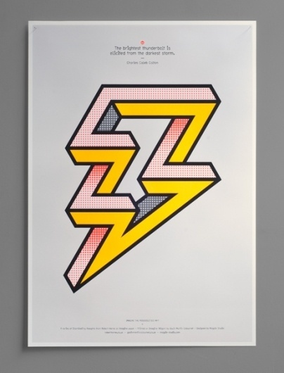 Magpie Studio #thunderbolt #magpie #print #graphic #thoughts #storm #studio #poster