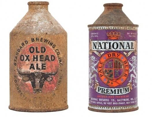 Beer on Cool Hunting #beer #label #crest #weathered #vintage