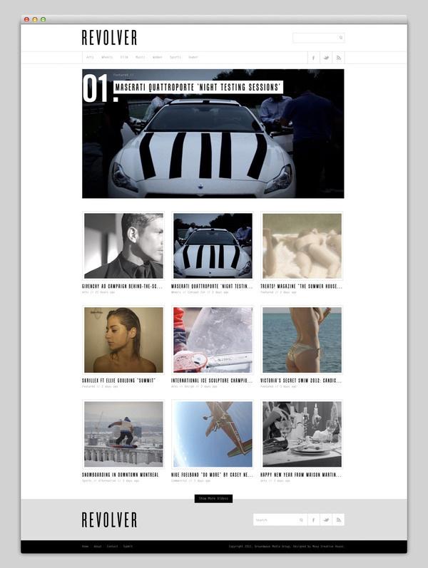Revolver #design #website #grid #layout #web