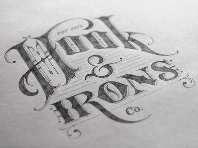 Dribbble - Hook & Irons Co. – Logo Sketch by Tom Lane #logo #types #lettering