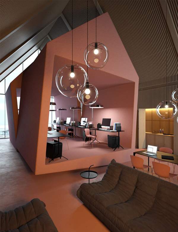 "Concept Office ""Attic"" by Vasiliy Butenko. | yellowtrace blog » #office"