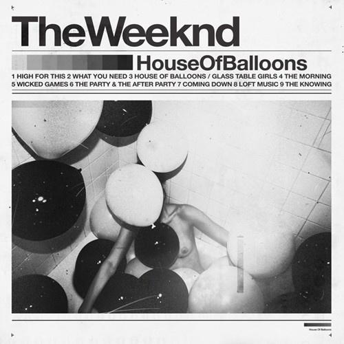 The Weeknd – House of Balloons (Mixtape) - EARMILK.COM #serif #sans #blackwhite #balloons