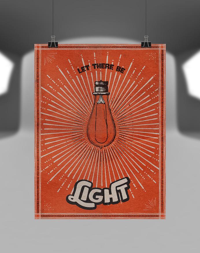 The-shop-design-cuts-all-inclusive-design-bundle-clean-build-textures-mockup-1200x1517 #bulb #print #orange #illustration #poster #hanging #light #burst