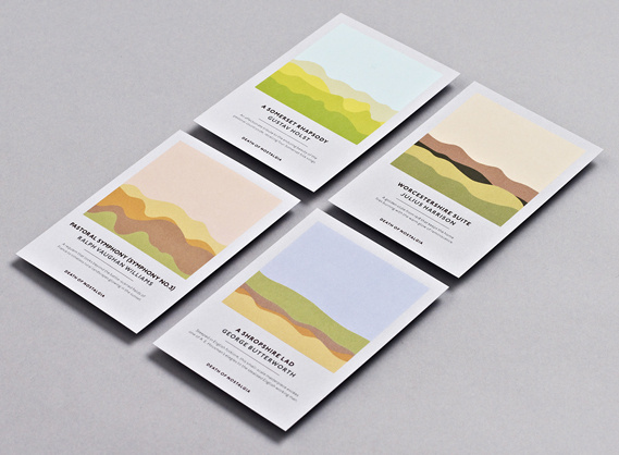 Creative Review   Studio Output's soundwave concert postcards