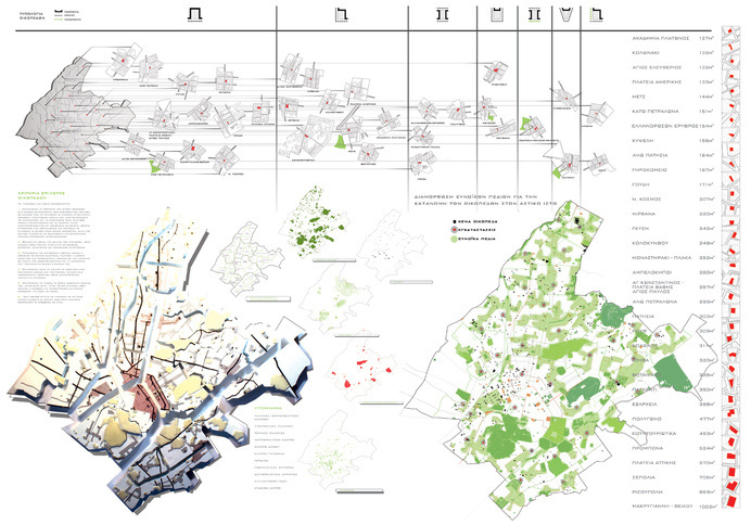 the layering of urban space diagrams