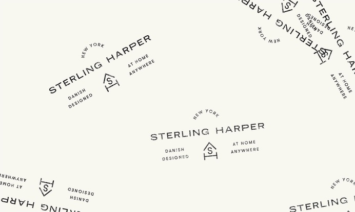 Sterling Harper Corporate Identity - Mindsparkle Mag Project M+ designed the corporate identity for Sterling Harper, a new Scandinavian crafted interior design brand that is about to launch. For this project, the agency based in L.A. #logo #packaging #identity #branding #design #color #photography #graphic #design #gallery #blog #project #mindsparkle #mag #beautiful #portfolio #designer