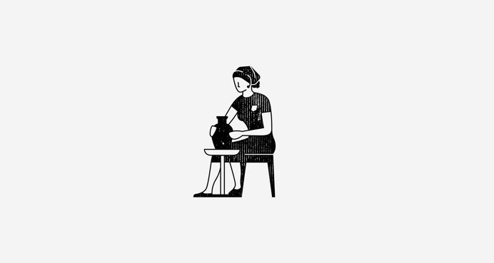 Female Potter Illustration by © mkn-design – Michael Nÿkamp