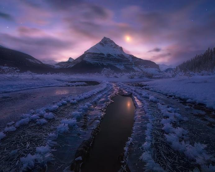 Amazing Snowy Mountain Landscape