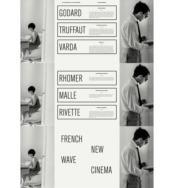 French New Wave Scott Langer — Graphic Design #white #black #wave #french #poster #film #new