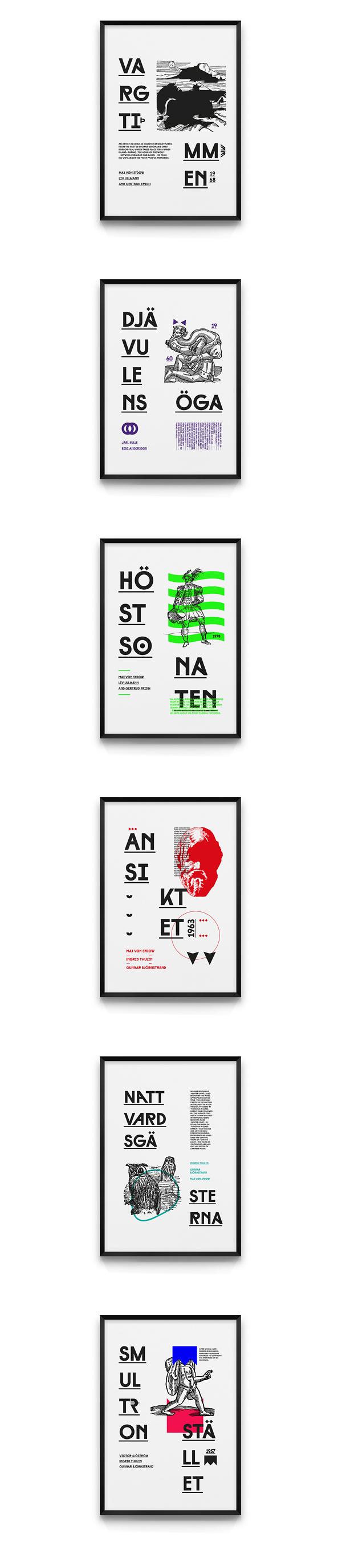 Bergman | Film Posters on Behance #poster #film