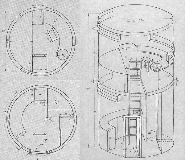 absalon cell5 drawings 01 #design #architecture #drawing #space #living #cell