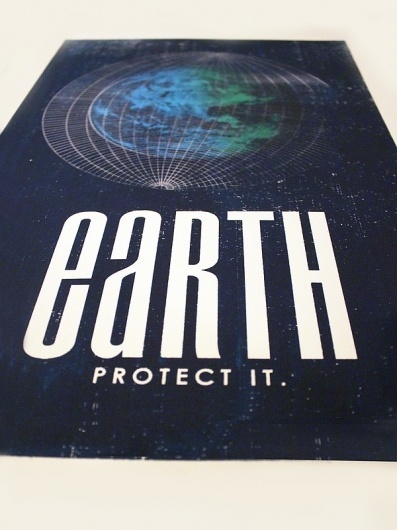 Earth Screenprint Poster #earth #screen #print #poster