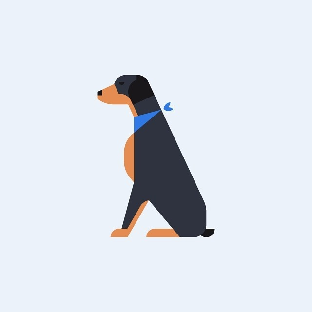 Doberman illustration #icon #icondesign #icons #picto #animal #dog #doberman #pet #illustration #graphicdesign #minimal #geometric