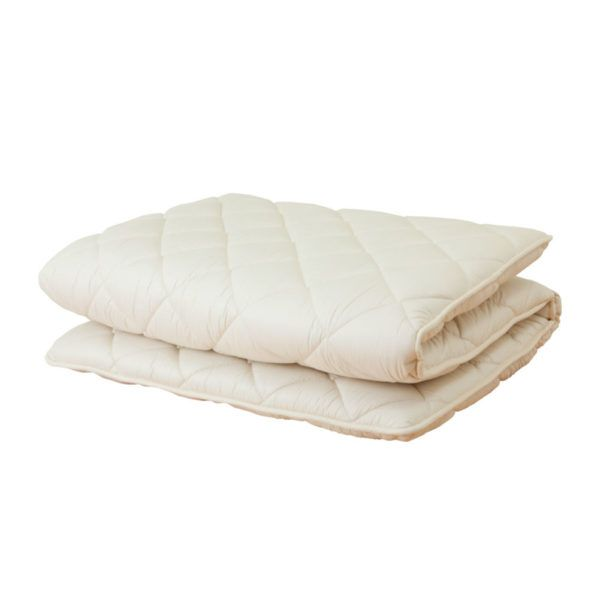 Japanese Mattress Pad The Japanese Mattress Pad will get you sleeping like a baby in a futon that feels like luxury! It is designed with a layered structure for volume and great body support. It also has anti-tick and anti-bacterial properties. Made out 100% pure cotton.